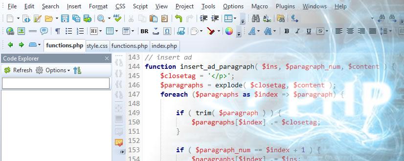 wordpress inserir conteudo