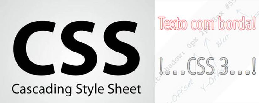 CSS 3: texto com uma borda