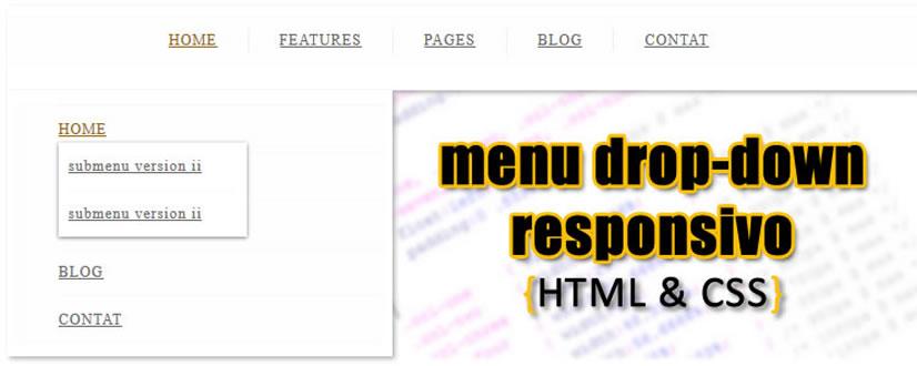 menu drop down responsivo