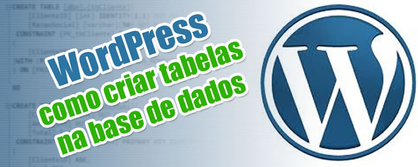 wordpress criar tabelas bd