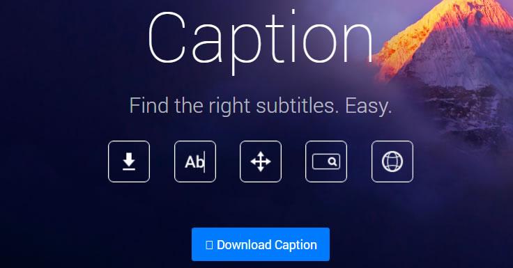 Encontrar a legenda com app caption