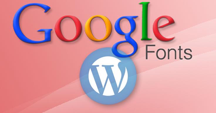 fontes do Google no WordPress