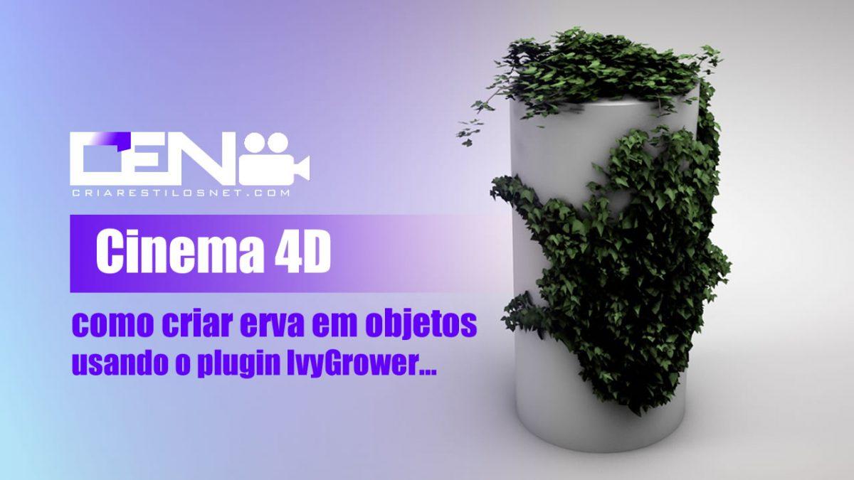 Cinema 4D - Erva em objetos