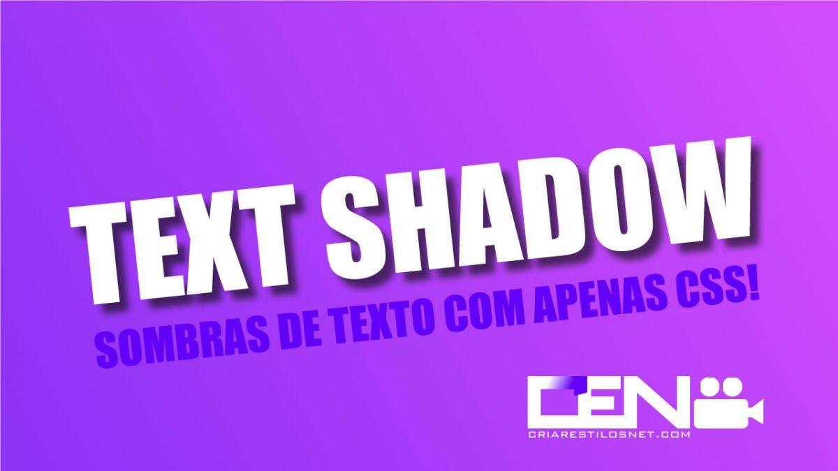 sombras em texto apenas com CSS